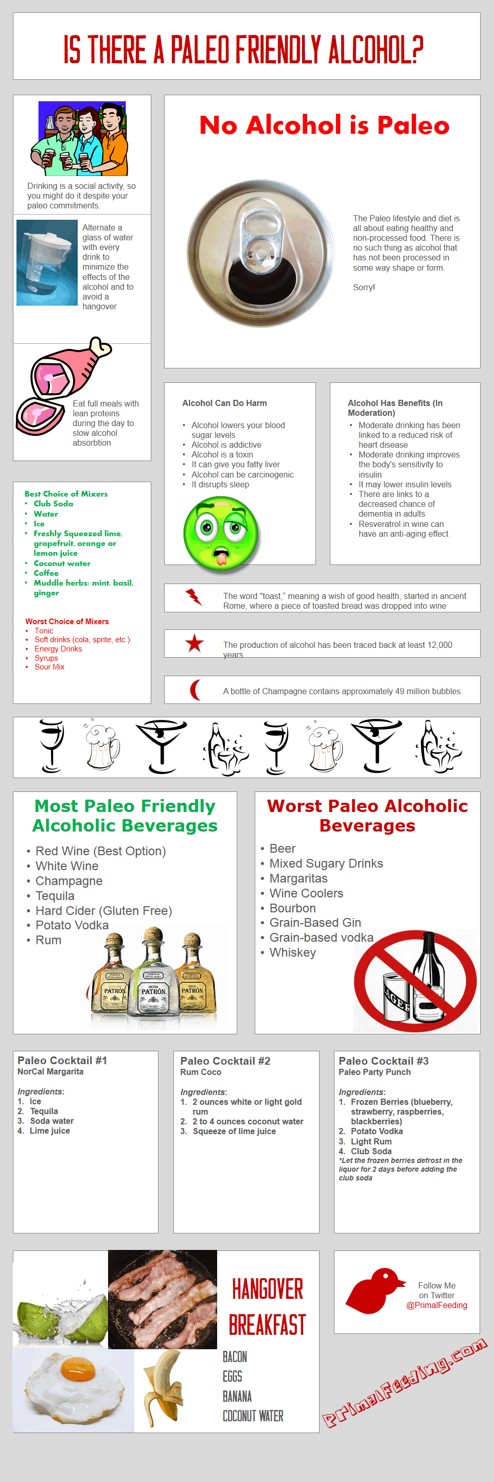 Paleo Friendly Alcohol Guide [Infographic]