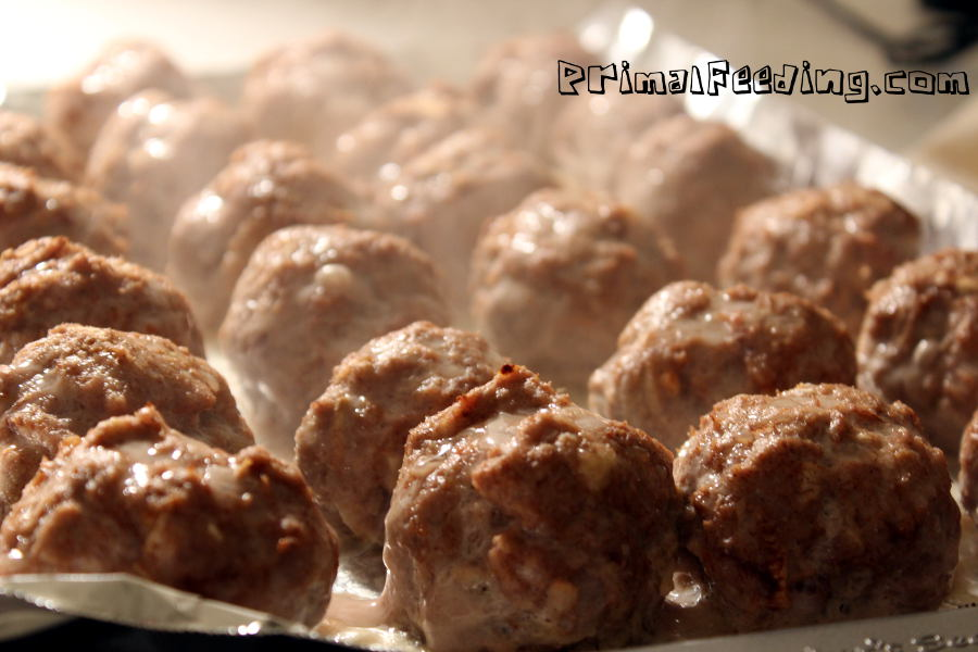 Paleo Turkey and Apple Meatballs