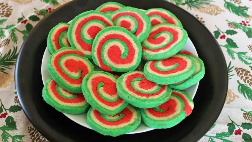 Keto Diet Christmas Pinwheel Cookies