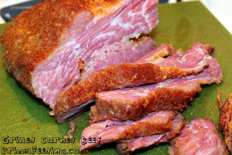 Slow grilled paleo corned beef