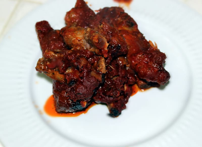 Paleo slow cooked bbq pork spare ribs